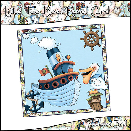 Little Tug Boat Easel Card - The Printable Craft Shop