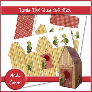 Turtle Tool Shed Gift Box - The Printable Craft Shop