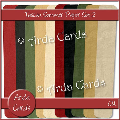 Tuscan Summer Paper Set 2 - The Printable Craft Shop