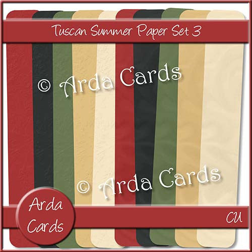 Tuscan Summer Paper Set 3 - The Printable Craft Shop