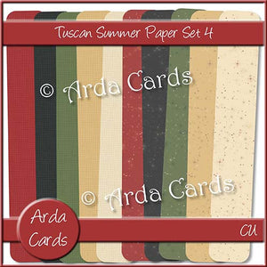 Tuscan Summer Paper Set 4 - The Printable Craft Shop