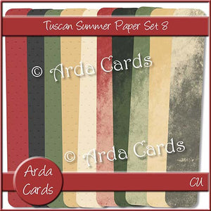 Tuscan Summer Paper Set 8 - The Printable Craft Shop