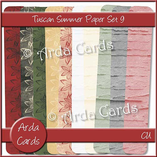 Tuscan Summer Paper Set 9 - The Printable Craft Shop