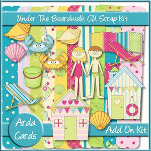 Under The Boardwalk CU Scrap Kit Add On - The Printable Craft Shop