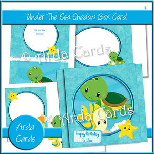 Under The Sea Shadow Box Card - The Printable Craft Shop