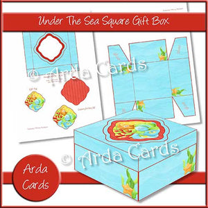 Under The Sea Square Printable Gift Box - The Printable Craft Shop