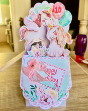 Load image into Gallery viewer, unicorn pop up box from printables