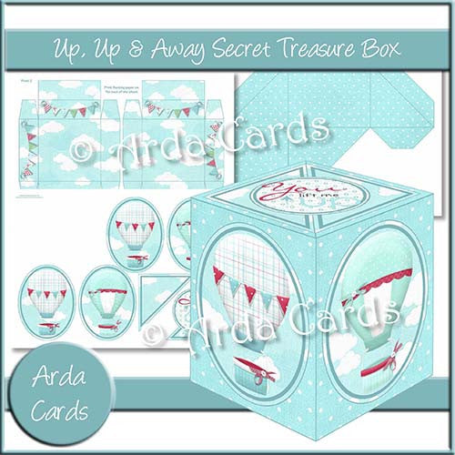 Up, Up & Away Secret Treasure Box - The Printable Craft Shop