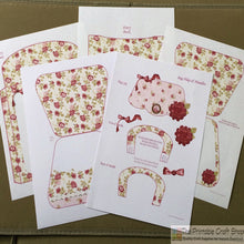 Load image into Gallery viewer, Vintage Roses Handbag Card - The Printable Craft Shop