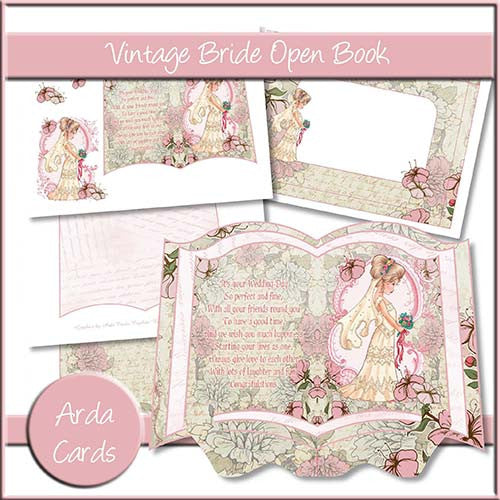 Vintage Bride Open Book - The Printable Craft Shop