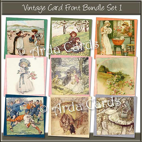 Vintage Card Front Bundle - The Printable Craft Shop