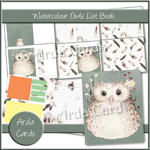 Watercolour Owls List Book