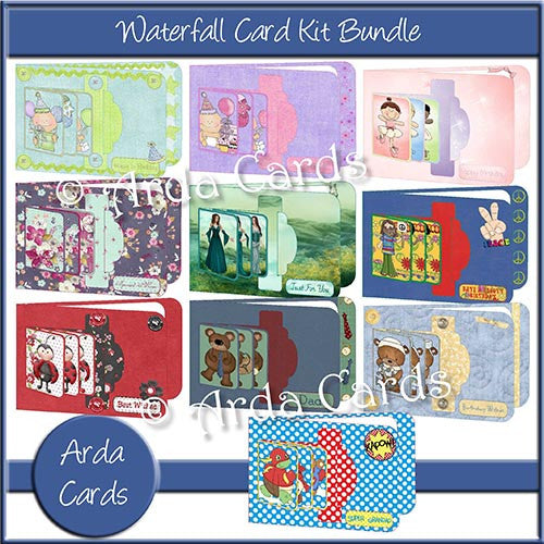 Waterfall Card Kit Bundle - The Printable Craft Shop