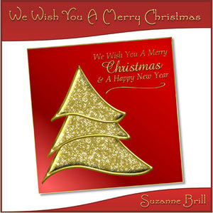 We Wish You A Merry Christmas Card Front - The Printable Craft Shop