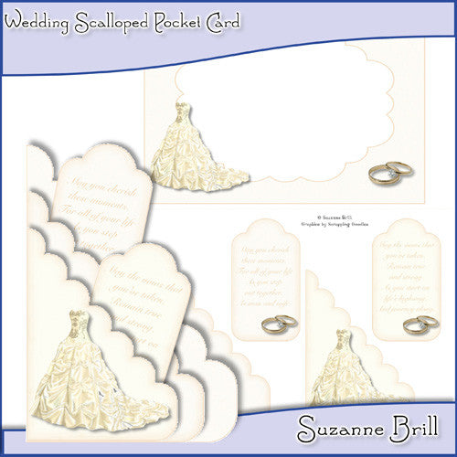 Wedding Scalloped Pocket Card - The Printable Craft Shop