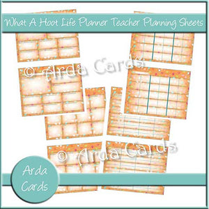 What A Hoot Life Planner Printable Teacher Planning Sheets - The Printable Craft Shop