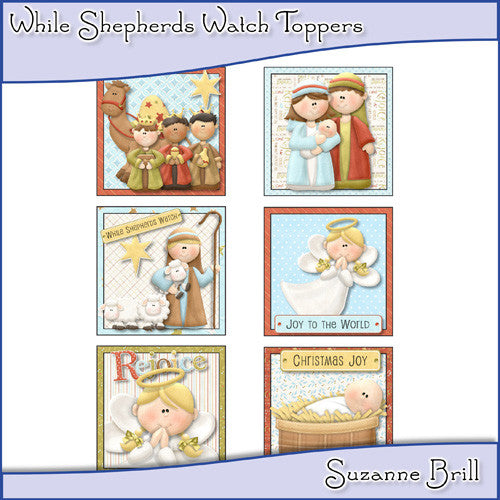 While Shepherds Watch Toppers - The Printable Craft Shop