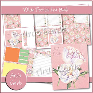 White Peonies List Book