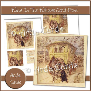 Wind In The Willows Card Front - The Printable Craft Shop