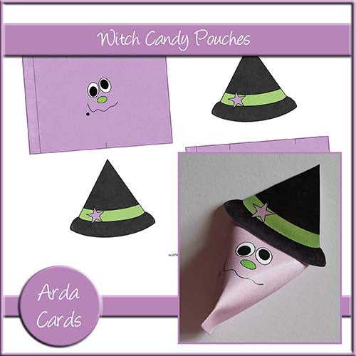 Witch Candy Pouches - The Printable Craft Shop