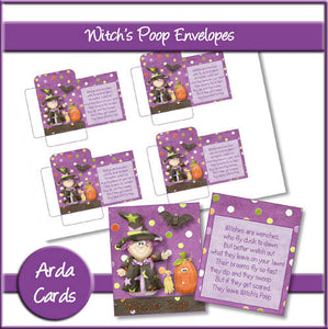 Witch's Poop Envelopes - The Printable Craft Shop