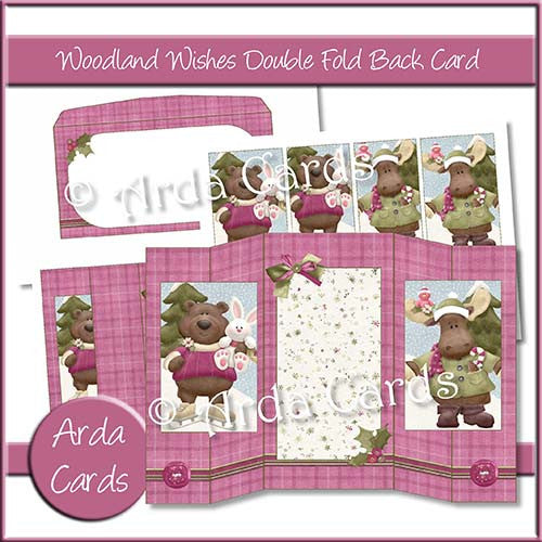 Woodland Wishes Double Foldback Cards - The Printable Craft Shop