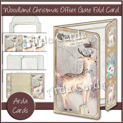 Woodland Christmas Offset Gate Fold Card