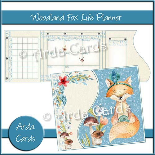 Woodland Fox Printable Life Planner - The Printable Craft Shop