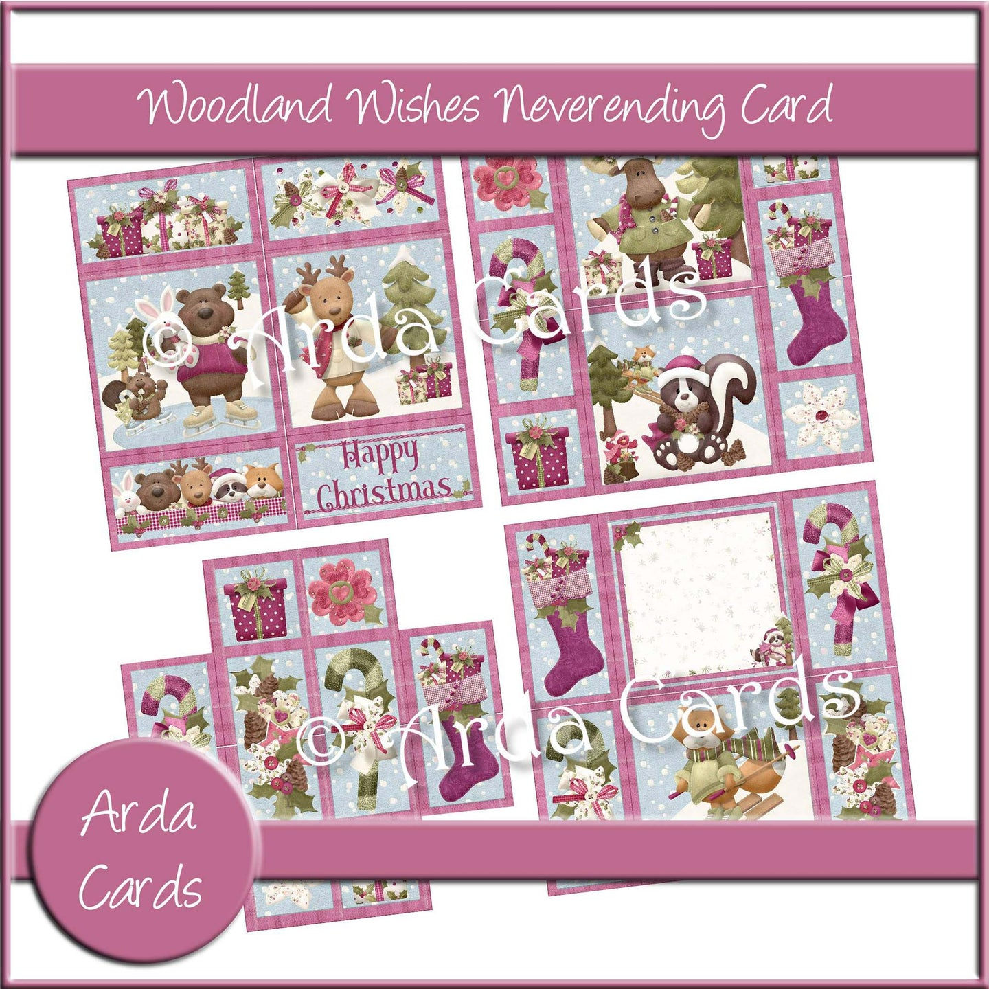 Woodland Wishes Neverending Card Printable