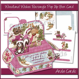 Woodland Wishes Rectangle Pop Up Box Card