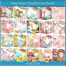 Load image into Gallery viewer, Wrap Around Gatefold Card Bundle - The Printable Craft Shop