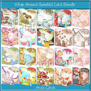 Wrap Around Gatefold Card Bundle - The Printable Craft Shop