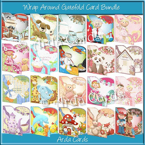 Wrap Around Gatefold Card Bundle