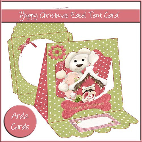 Yappy Christmas Easel Tent Card - The Printable Craft Shop
