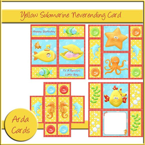 Yellow Submarine Neverending Card - The Printable Craft Shop