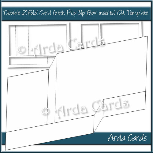 Double Z Fold Pop Up Box Card Template