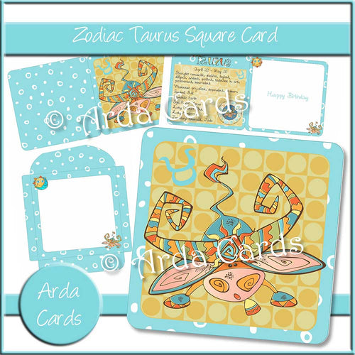 Zodiac Taurus Square Card