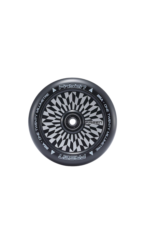 Fasen Hollow Core Scooter Wheel Set 120mm Offset Black
