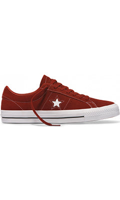 Converse One Star Pro Low Top Shoes Terra RedWhite