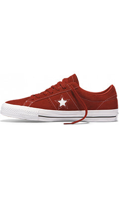Converse One Star Pro Low Top Shoes Terra Red/White