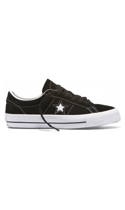 Converse One Star Pro Low Suede Shoes BlackWhite