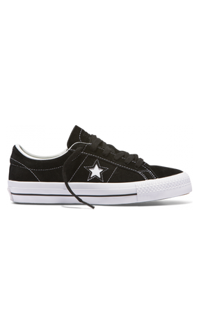 Converse One Star Pro Low Suede Shoes Black/White