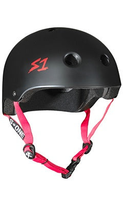 S1 Lifer Helmet Matte Black With Red Straps