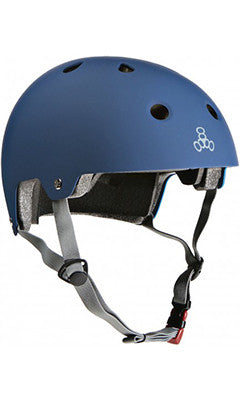 Triple 8 Brainsaver Dual Certified Helmet Blue Rubber