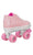 RDS Zinger Youth Roller Skates White/Pink from Skate Connection