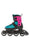 Rollerblade Microblade Junior Inline Skates Pink/Emerald Green - Skate Connection