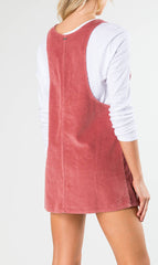 Rusty Maze Ladies Pinafore Dress Withered Rose