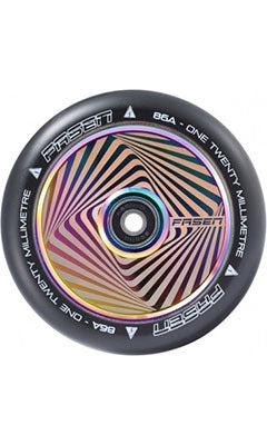 Fasen Hollow Core Scooter Wheel Set 120mm Square Oil Slick