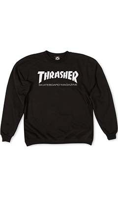 Thrasher Skate Mag Mens Crew Neck Jumper Black