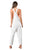 Rusty Heartbreaker Stripe Ladies Overall Bright White